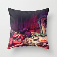 Throw Pillow featuring Bleed by Alice X. Zhang