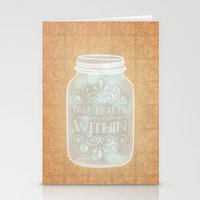 True Beauty Comes From W… Stationery Cards