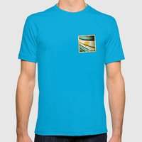 Grunge sticker of Argentina flag Mens Fitted Tee Teal SMALL