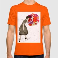 solea Mens Fitted Tee Orange SMALL