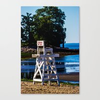 Life guard off duty - enjoy the beach Canvas Print