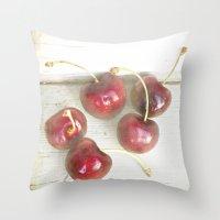 Cherry Lane Throw Pillow