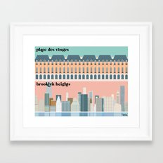 le pied-à-terre Framed Art Print