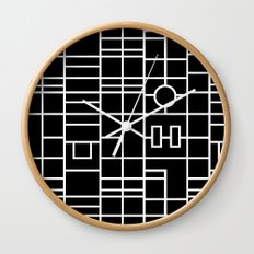 Map With Roundabout Wall Clock