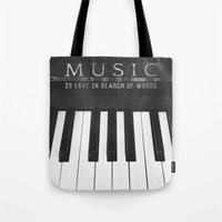 Love In Search Of Words Tote Bag