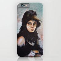 iPhone & iPod Case featuring Raven girl by Laura MSS