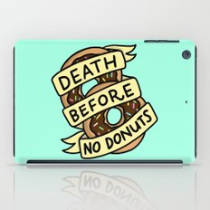 Death Before No Donuts iPad Case