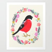 Bullfinch By Andrea Laur… Art Print