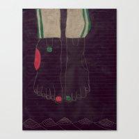 6 finger Canvas Print