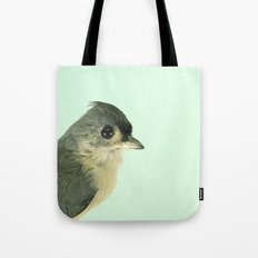 Natural History Bird Photograph - Tufted Titmouse Tote Bag