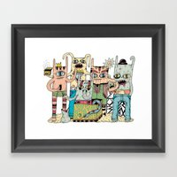 Gangsta Family Framed Art Print
