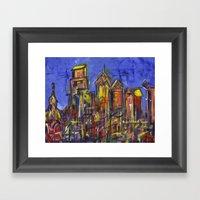 Philly Skyline Framed Art Print