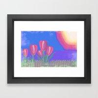FLOWERS IN THE SUN V3 - … Framed Art Print
