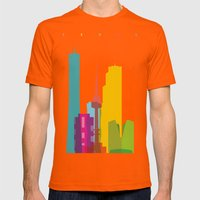 Shapes Of Seoul Accurate… Mens Fitted Tee Orange SMALL