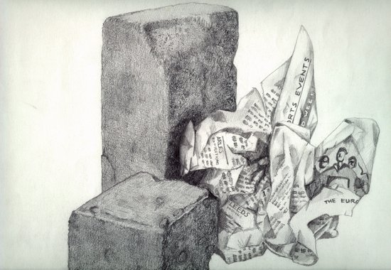 1991 - Still Life Of Stone And Paper (High Res) Art Print