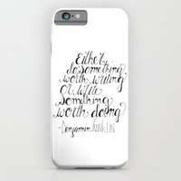 iPhone & iPod Case featuring Do Something Worth Writing by maddox and klaus