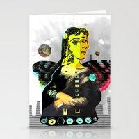 Mona Dora Lisa Maar Collage 2 StreetArt Stationery Cards