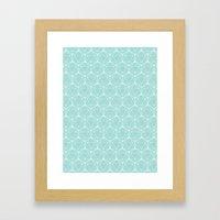 Icosahedron Seafoam Framed Art Print