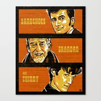 Sandshoes, Grandad and Chinny Canvas Print