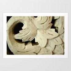 Carved Wood Art Print