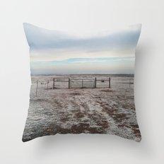 Snowy Gate Throw Pillow