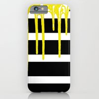 Striped Drip Yellow iPhone 6 Slim Case