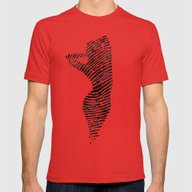 Fingerprint Silhouette P… Mens Fitted Tee Red SMALL