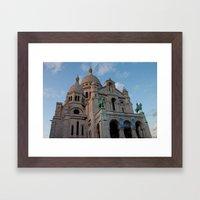 Sacre Coeur in September Framed Art Print