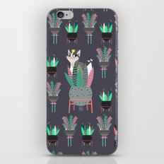 Plants, pots and cats iPhone & iPod Skin