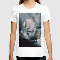 T-shirts featuring WHITE HORSE by dada22