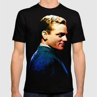 James Cagney, Blue Scree… Mens Fitted Tee Black SMALL
