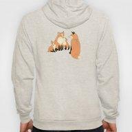 Fox Family In The Autumn… Hoody