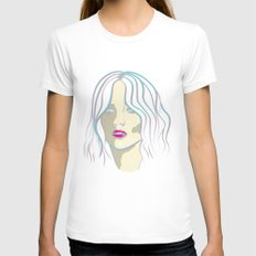 Jennifer Womens Fitted Tee White SMALL