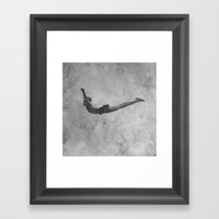 Dive Framed Art Print