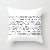 If You Were Here I Would… Throw Pillow