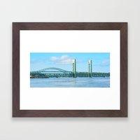 Bridge at Portsmouth Harbor Framed Art Print