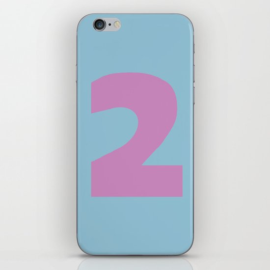 Number 2 iPhone & iPod Skin
