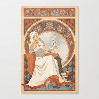 Game Nouveau Canvas Print