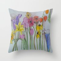 Spring Lineup  Throw Pillow