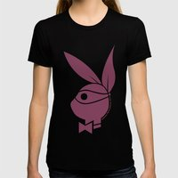 Playboy Turtle: Donatello Womens Fitted Tee Black SMALL