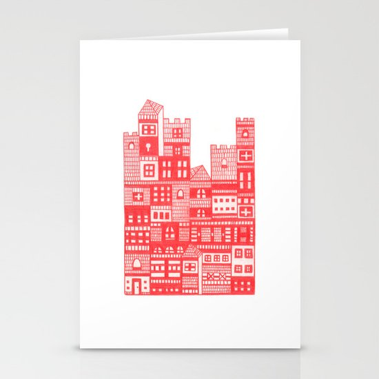 Tangerine Castle Stationery Card