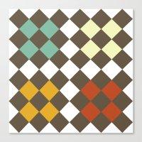 Checkers Fall Canvas Print