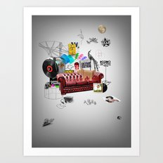 Rock and Roll living Art Print