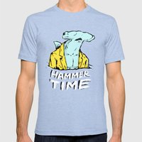 Hammer Time Mens Fitted Tee Tri-Blue SMALL