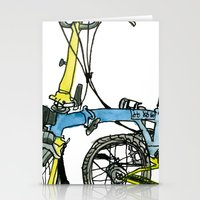 My brompton standing up Stationery Cards
