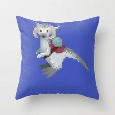 Pixel / 8-bit Star Wars Baby Tauntaun Ram Throw Pillow