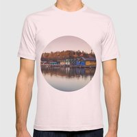 Dawn at the lake Mens Fitted Tee Light Pink SMALL