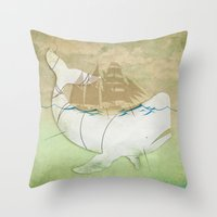 The Ghost Of Captain Aha… Throw Pillow