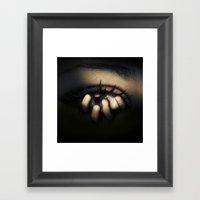 Out of Mein Eye Framed Art Print