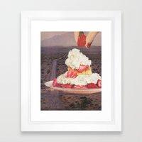 Des(s)ert Framed Art Print